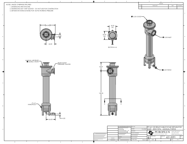 5000usgCentrifugalSeparatorSpecifications